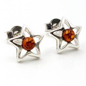 Pendientes estrella con ámbar 25772