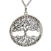 Colgante árbol de la vida en plata, tamaño grande