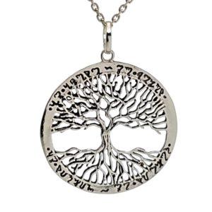 Colgante fabricado en plata - Árbol de la vida
