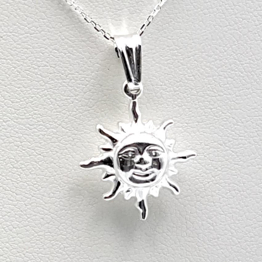 Colgante sol y gargantilla en plata