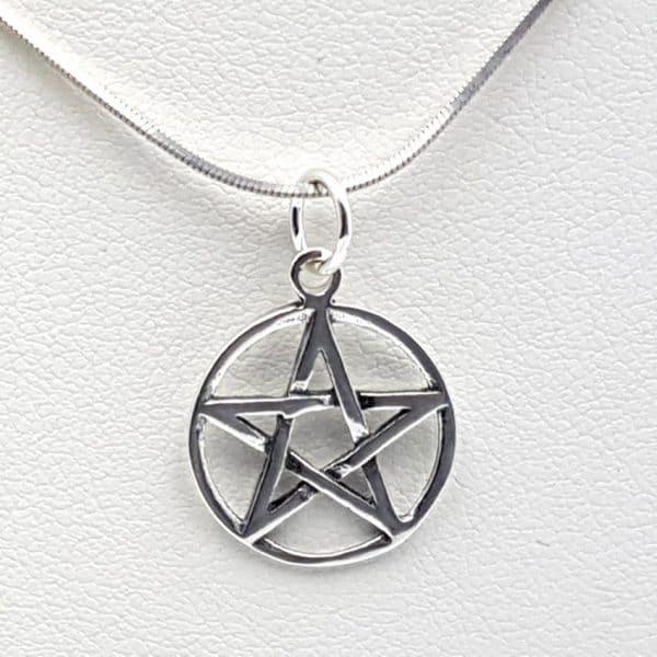 Colgante estrella 5 puntas, pentagrama en plata