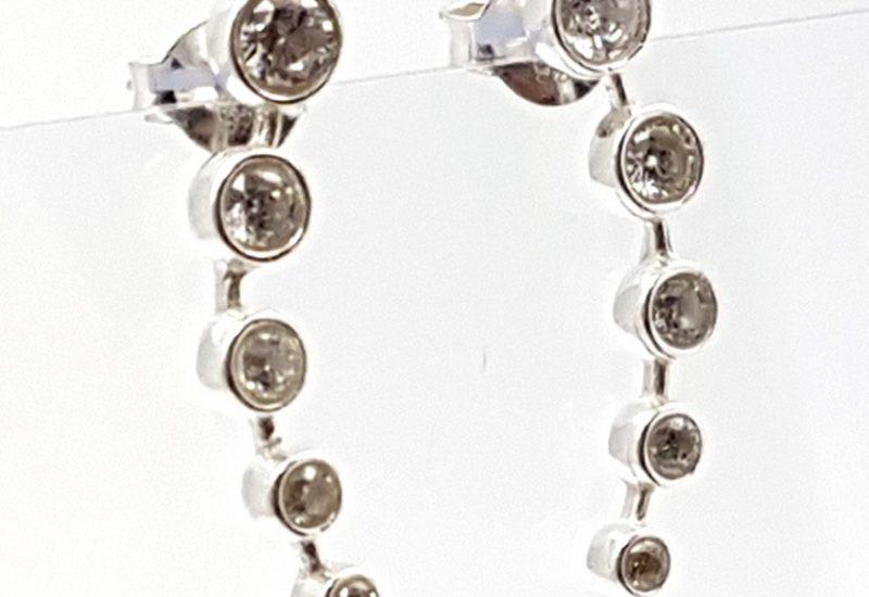 Pendientes con Circonitas fabricados en plata de ley