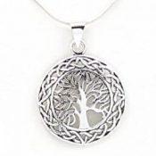 Colgante de plata con el árbol de la vida