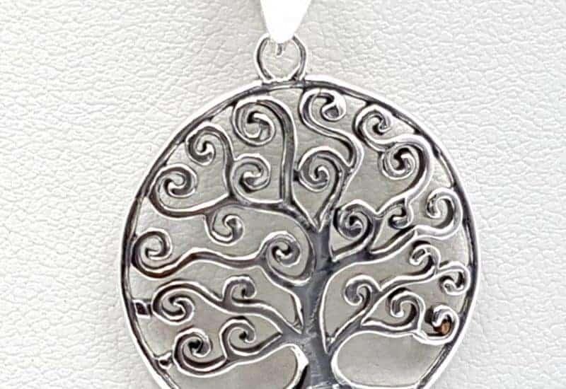 Colgante Árbol de la vida fabricado en plata de ley 925 mls