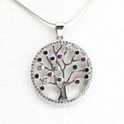 Colgante circonitas fabricado en plata con el árbol de la vidaColgante circonitas fabricado en plata con el árbol de la vida