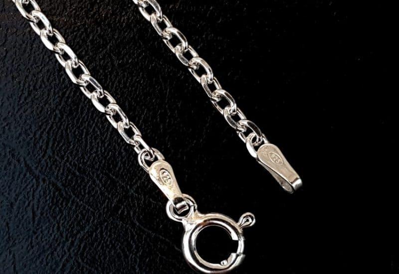 Cadena Forzada de 50 cm fabricada en plata de ley