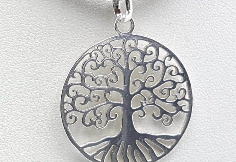 Colgante del Árbol de la vida en plata de ley
