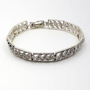 Pulsera de marquesitas en plata