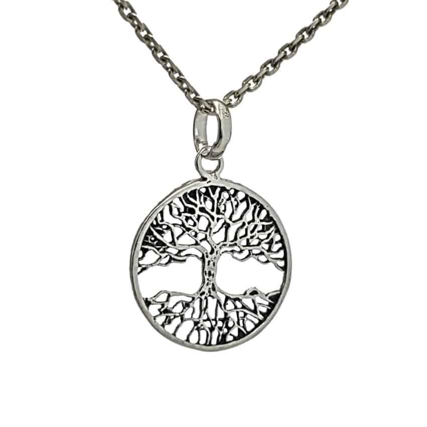 Colgante árbol de la vida plata 925 (2)