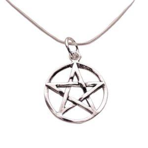 Colgante Estrella de 5 puntas, Pentagrama fabricado en plata