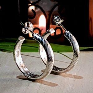 Pendientes aros de plata cierre tornillo