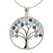 colgante árbol de la vida en plata con circonitas