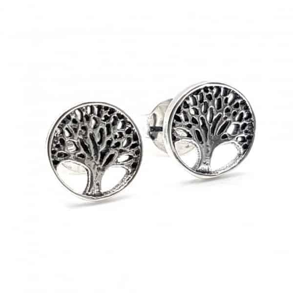 Pendientes árbol de la vida en plata
