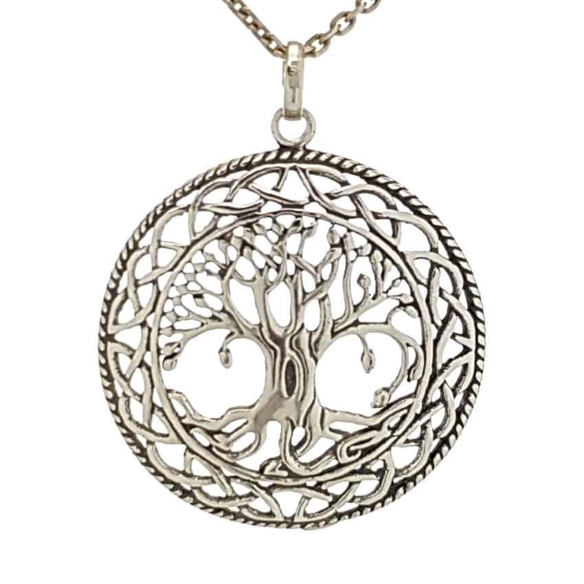 Colgante árbol de la vida con diseño celta (4)