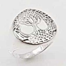 Anillo árbol de la vida en plata