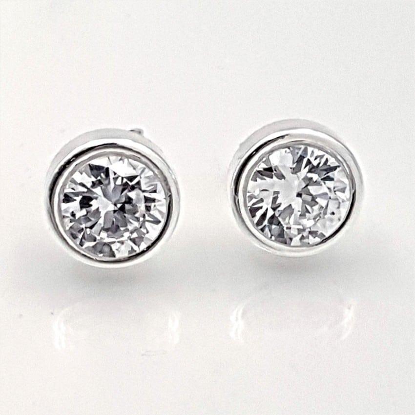 Pendientes circonitas en plata