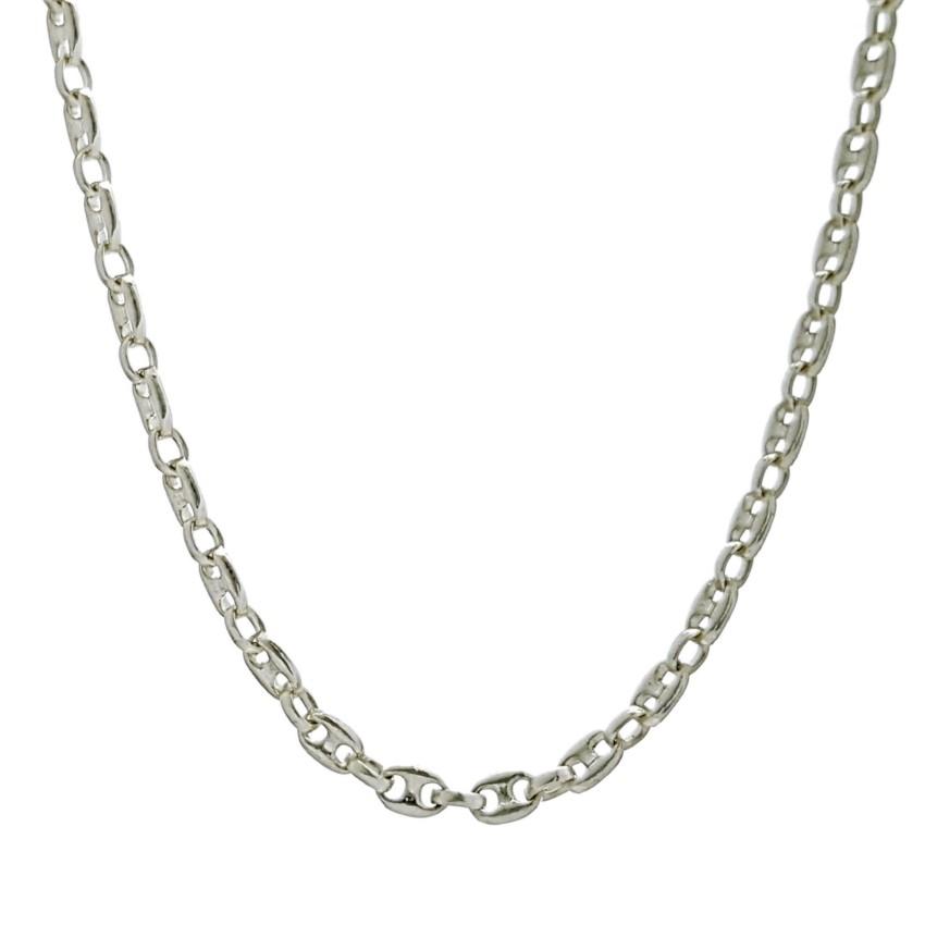 Cadena de pequeños calabrotes de plata 925 (3)