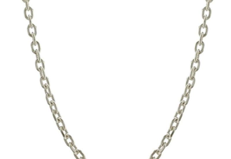 Cadena FORZADA de 40 cm de largo x 1,8 mm. grosor en plata 925