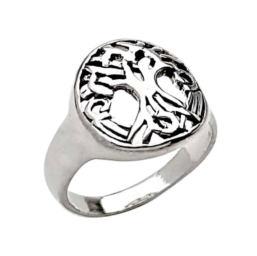 anillo diseño árbol de la vida