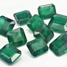 Piedras preciosas de esmeralda