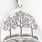 Colgante ágata en plata con el árbol de la vida