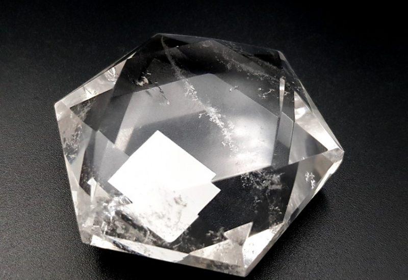 Polígono estrellado de 6 puntas de Cuarzo Cristal de Roca