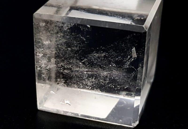 Cuarzo Cristal de Roca – Sólido Platónico Cubo