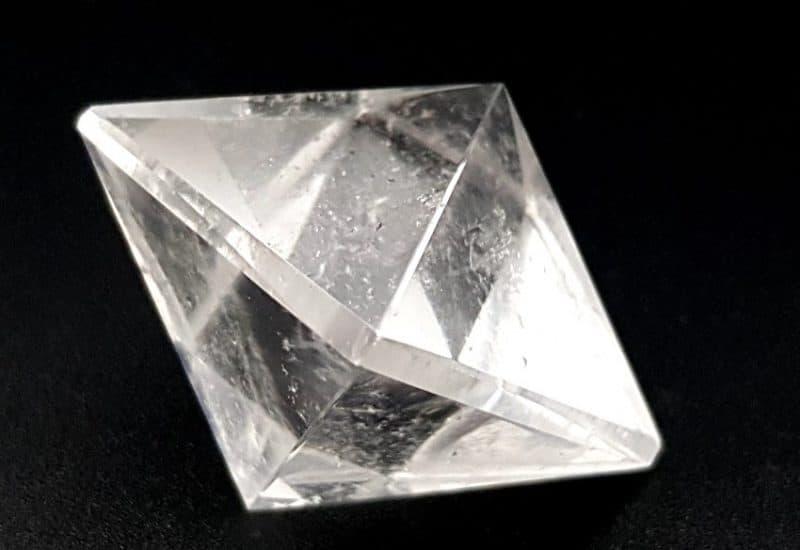 Sólido Platónico Octaedro – Cuarzo Cristal de Roca