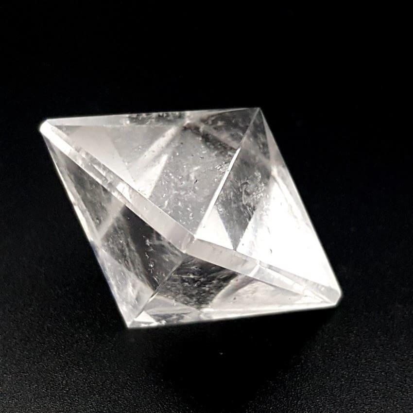 Sólido platónico Cuarzo Cristal de Roca en octaedro