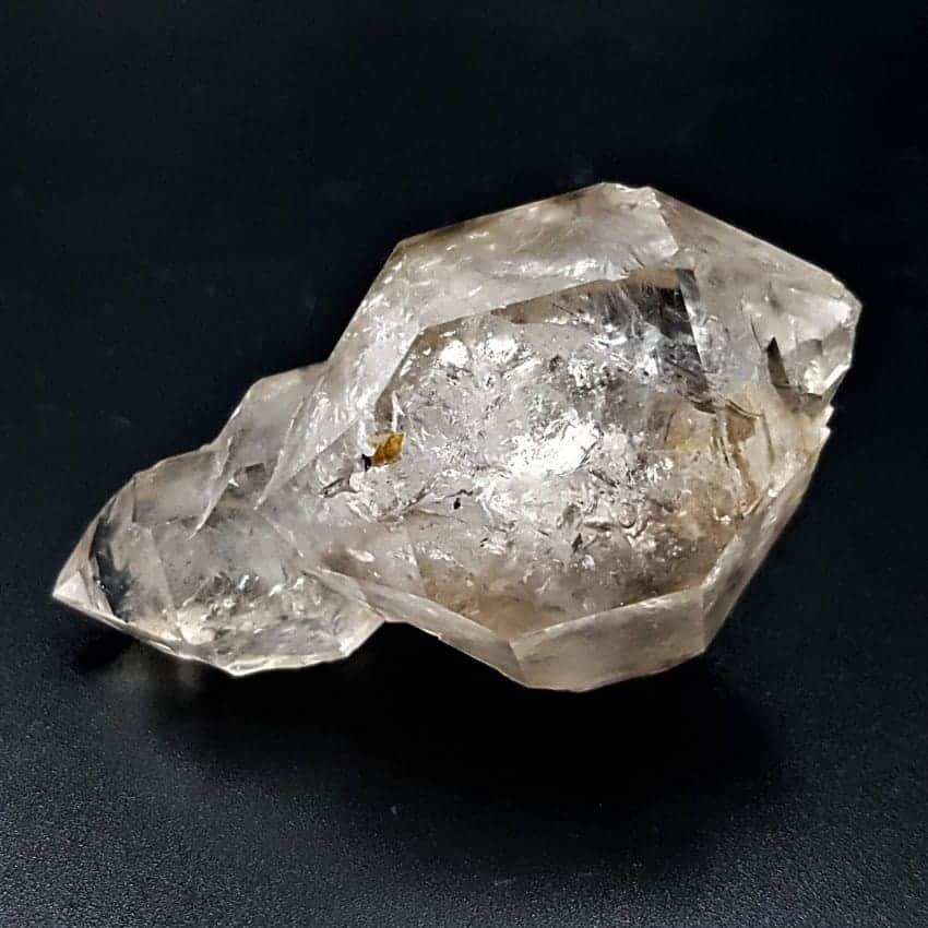 Punta cuarzo cristal de roca, cuarzo burbujas