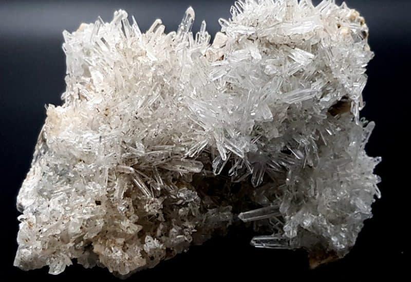 Drusa de Cuarzo Cristal de Roca y Dolomita