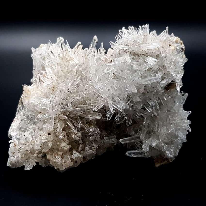 Drusa de cuarzo cristal de roca