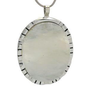 Enorme Colgante de Piedra Luna ¡61 mm.! fabricado en plata 925.