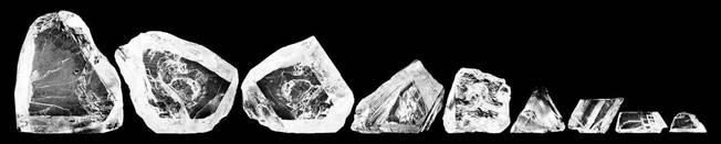 Cullinán cortado en 9 piedras
