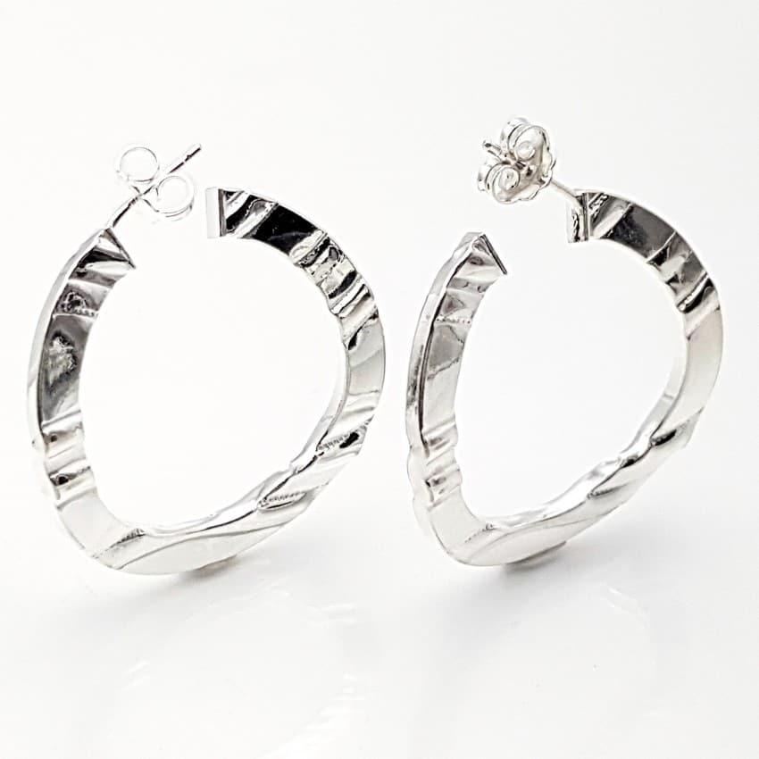 Argollas planas en plata