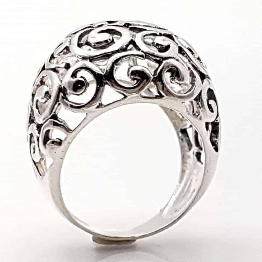 Anillo con espirales en plata