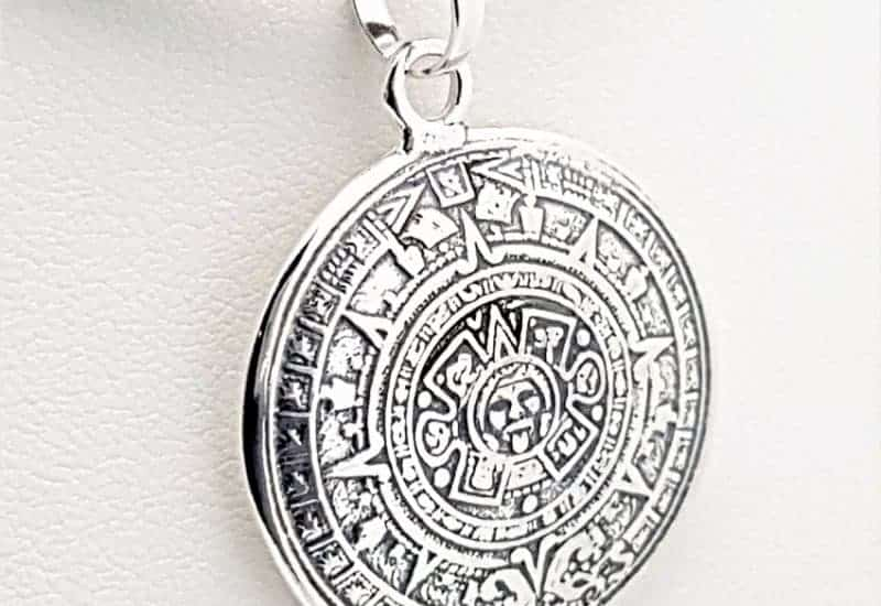 Colgante Calendario Azteca fabricado en Plata de Ley 925 mls
