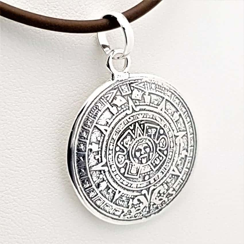 Colgante calendario azteca en plata