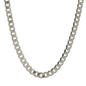 Cadena GRUM/BARBADA de 60 cm de largo x 3 mm. fabricada en plata