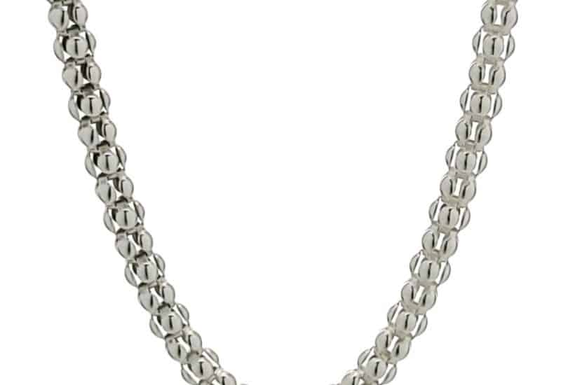 Cadena COREANA de 80 cm de largo fabricada en plata