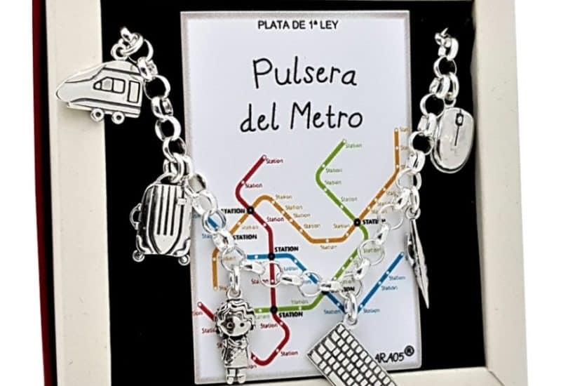 Pulsera del Metro fabricada en plata