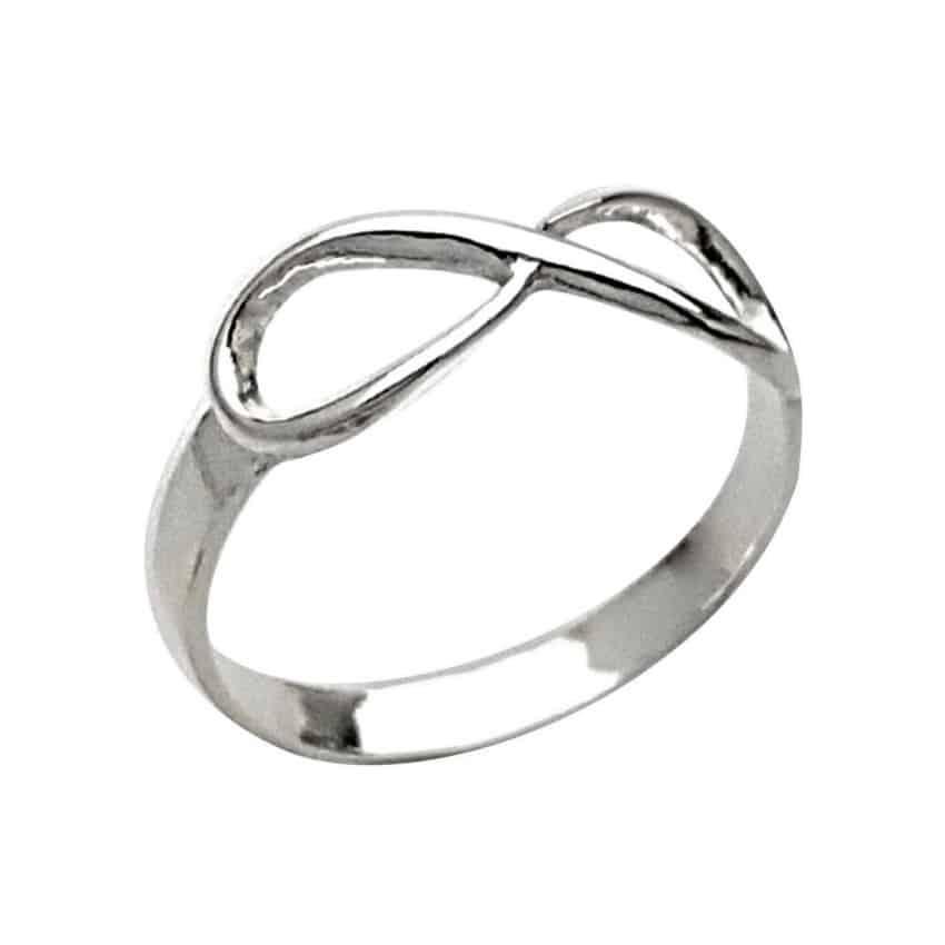 anillo infinito de plata 925