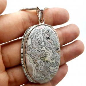 Colgante de ágata crazy en plata