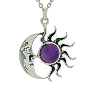 Colgante sol y luna de cuarzo amatista (3)