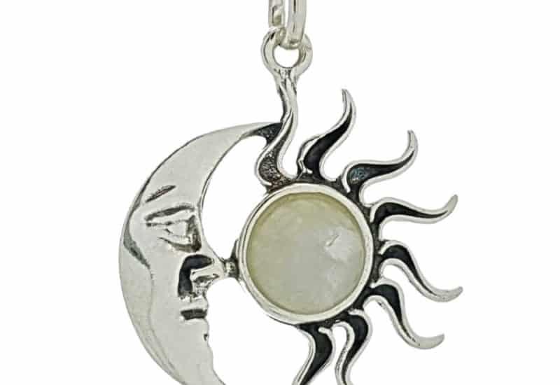 Colgante Sol y Luna de Piedra Luna