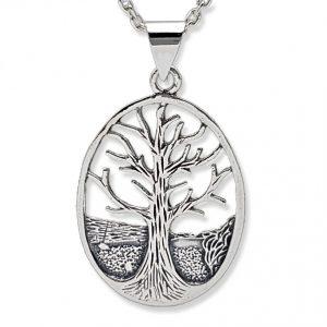 Árbol de la vida, colgante de plata. Amuleto