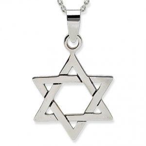 Estrella de David. Amuleto, colgante de plata