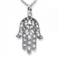 Amuleto Mano de Fátima en plata