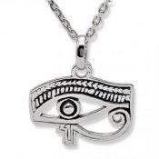 Ojo de Horus, Amuleto colgante de plata