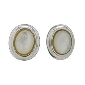 Pendientes plata 925 con piedras ovales de Nácar